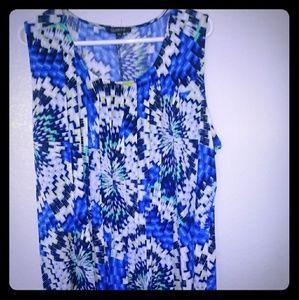 Dresses & Skirts - Sleeveless Blue Ripple Style Dress